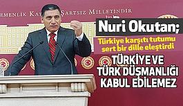 Nuri Okutan; Türkiye ve Türk Düşmanlığı Kabul Edilemez