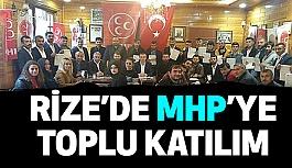 Rize'de MHP'ye Büyük Katılım