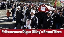 Trabzonlu Şehit Polis Memuru Olgun Gülay'a Resmi Tören Düzenlendi