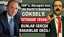 "CHP'li Başkan Akcagöz'den Ak Parti Başkanı Göksel'e ""İstihdam"" Cevabı"