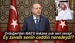 Erdoğan'dan Arap Bakana Sert Cevap