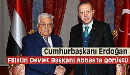 Erdoğan, Filistin Devlet Başkanı Mahmud Abbas'la Bir Araya Geldi