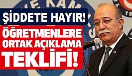 İsmail Koncuk'tan öğretmenlere Ortak Açıklama Teklifi (Şiddete Hayır!)