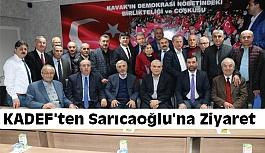 KADEF'ten Başkan Sarıcaoğlu'na ziyaret etti