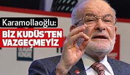 """Karamollaoğlu: """"Biz Kudüs'ten vazgeçemeyiz"""""""