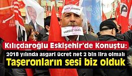 """Kılıçdaroğlu; """"Taşeronların sesi biz olduk"""""""