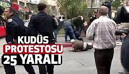 Kudüs protestosuna israil Saldırdı