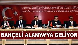 MHP Lideri Devlet Bahçeli, Alanya'ya geliyor