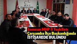 Samsun MHP İl Teşkilatı Çarşamba İlçe Başkanlığında Toplandı