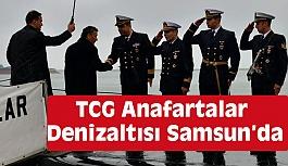 TCG Anafartalar Denizaltısı Samsun'da