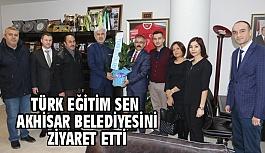Akhisar Türk Eğitim Sen'den Başkan Salih Hızlı'ya Ziyaret