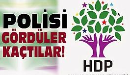 Ankara'da Polisi gören HDP'liler Partiye Kaçtı