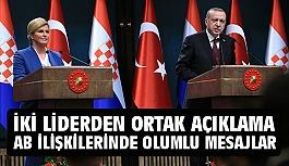 Erdoğan ve Kitaroviç'ten Ortak Açıklama