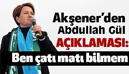 Meral Akşener; Abdullah Gül ile Bugünlerde Çok Sıkı Fıkıymışım