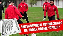 Samsunsporlu futbolculara Ne Kadar Para Yattı; İşte Liste