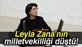 Zana'nın Milletvekilliği Düştü
