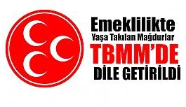 MHP Emeklilikte Yaşa Takılan Mağdurları TBMM'de Dile Getirdi