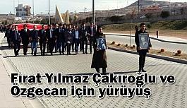 Nevşehir'de Fırat Yılmaz Çakıroğlu ve Özgecan için yürüyüşü