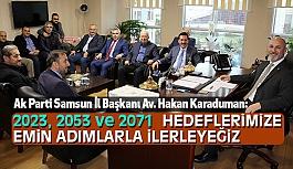 Samsun Ak Parti İl Başkanı Karaduman, 2019 seçimlerinin hazırlıklarına başlayacağız