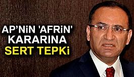 Bozdağ'dan AP'nin 'Afrin' kararına tepki