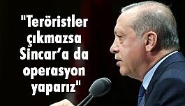 """Erdoğan: """"PKK çıkmazsa Sincar'a gireriz"""""""