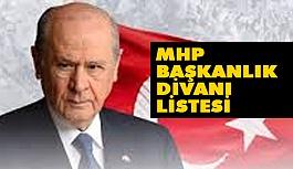 MHP Başkanlık Divanı Üyeleri Belli oldu