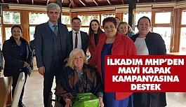 """MHP İlkadım Başkanlığından """"Mavi kapak"""" Kampanyasına Destek"""