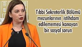 MHP'li Erdem; Tıbbi Sekreterlik Mezunlarının Kanayan Yarasını Dile Getirdi