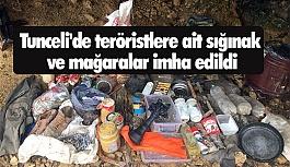 Teröristlere ait sığınak ve mağaralar imha edildi