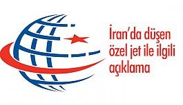 Ulaştırma Bakanlığı, İran'da düşen özel jet ile ilgili açıklama yaptı