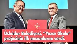 """Üsküdar Belediyesi """"Yazar Okulu"""" Projesi İlk Mezunlarını verdi"""