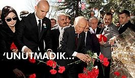 Bahçeli, Türkeş'in vefatının 21. yılı nedeniyle Beştepe'de Anıt mezarda