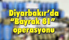 """Diyarbakır'da """"Bayrak 81"""" Operasyonu"""