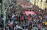 İstiklal Caddesi'nde ABD ve İsrail Protesto Edildi