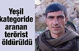 Aranan Azılı Terörist Öldürüldü