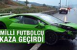Osmanlıspor'da forma giyen milli futbolcu Serdar Gürler kaza yaptı
