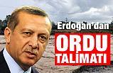 Cumhurbaşkanı Erdoğan'dan Sel Bölgesi Ordu Talimatı