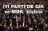 İşte İyi Parti'de GİK ve MDK  Listesi (Bahçeli'nin Elini Öpen Liste Dışı)