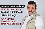 """Abdullah Ağar'dan, """"21.Yüzyılda Anadolu'da Var olma Mücadelemiz"""""""