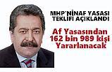 Af Yasasından 162 bin 989 kişi Yararlanacak