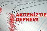 Akdeniz'de Büyük Deprem!