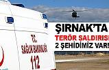 Şırnak'ta teröristlerden Kalleş Pusu: 2 şehit, 5 yaralı