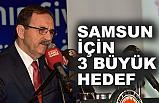 Başkan Zihni Şahin'den  Samsun için 3 büyük hedef!