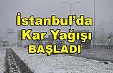 İstanbul'da kar yağıyor