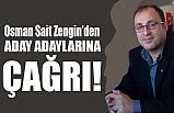 MHP'li Osman Sait Zengin'den A. Adaylarına Çağrı