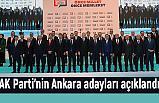 Ak Parti Ankara Adaylarını Açıkladı