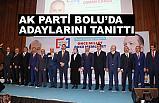 AK Parti Bolu Belediye Başkan Adayları Tanıtıldı