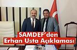 Anadolu Samsun Dernekler Federasyonu Erhan Usta'ya Destek Verdi