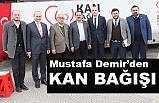 Mustafa Demir, Türk Kızılayı'na kan bağışında bulundu