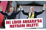 Büyük Ankara Mitinginde Erdoğan ve Bahçeli Meydanı İnletti